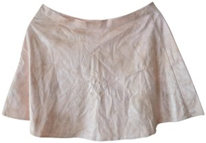 Abercrombie & Fitch Faux Leather Summer Youth Mini Skirt pink