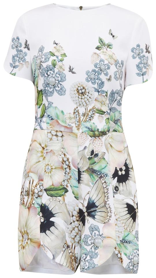 a3694a21abc Ted Baker Ivory Gilliay Gem Garden Playsuit Romper Jumpsuit - Tradesy