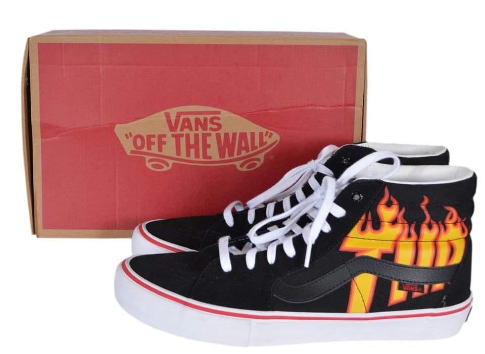 a3f33b6d21 Vans Black Multi Men's Sk8-hi Thrasher Flame High Tops Skate Sneakers Size  US 11 Regular (M, B) 25% off retail