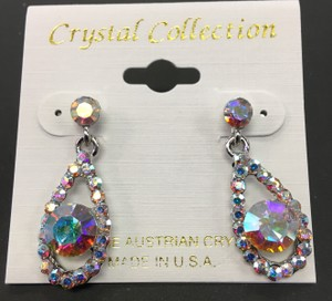 Multi Color Crystal Austrian Earrings