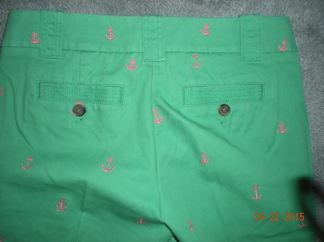 J.Crew Chino Capris green with anchors