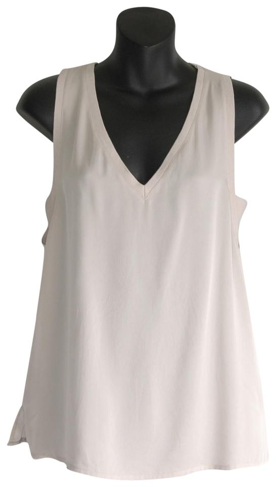 165afd33ad8a2 Theory Gray Silk Neck Cut Out Blouse Size 4 (S) - Tradesy