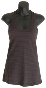 2950d26f6d Lululemon Gray Striped Scoop Neck Activewear Top Size 6 (S)