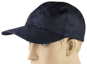 Gucci Blue GG Nylon Baseball Cap with BRB Elastic Back S 387578 4000