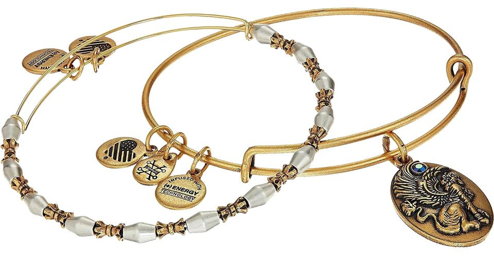 Alex And Ani Sphinx Expandable Bracelet Two Tone