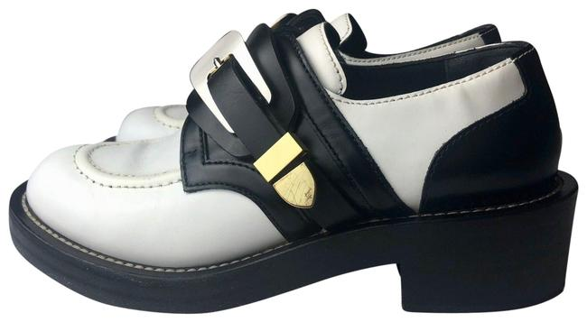 Item - Black White Ceinture Short Buckle Cut Out Ankle Boots/Booties Size EU 37 (Approx. US 7) Regular (M, B)