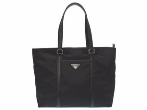 Prada Shoulder Tessuto Nylon Tote in Black