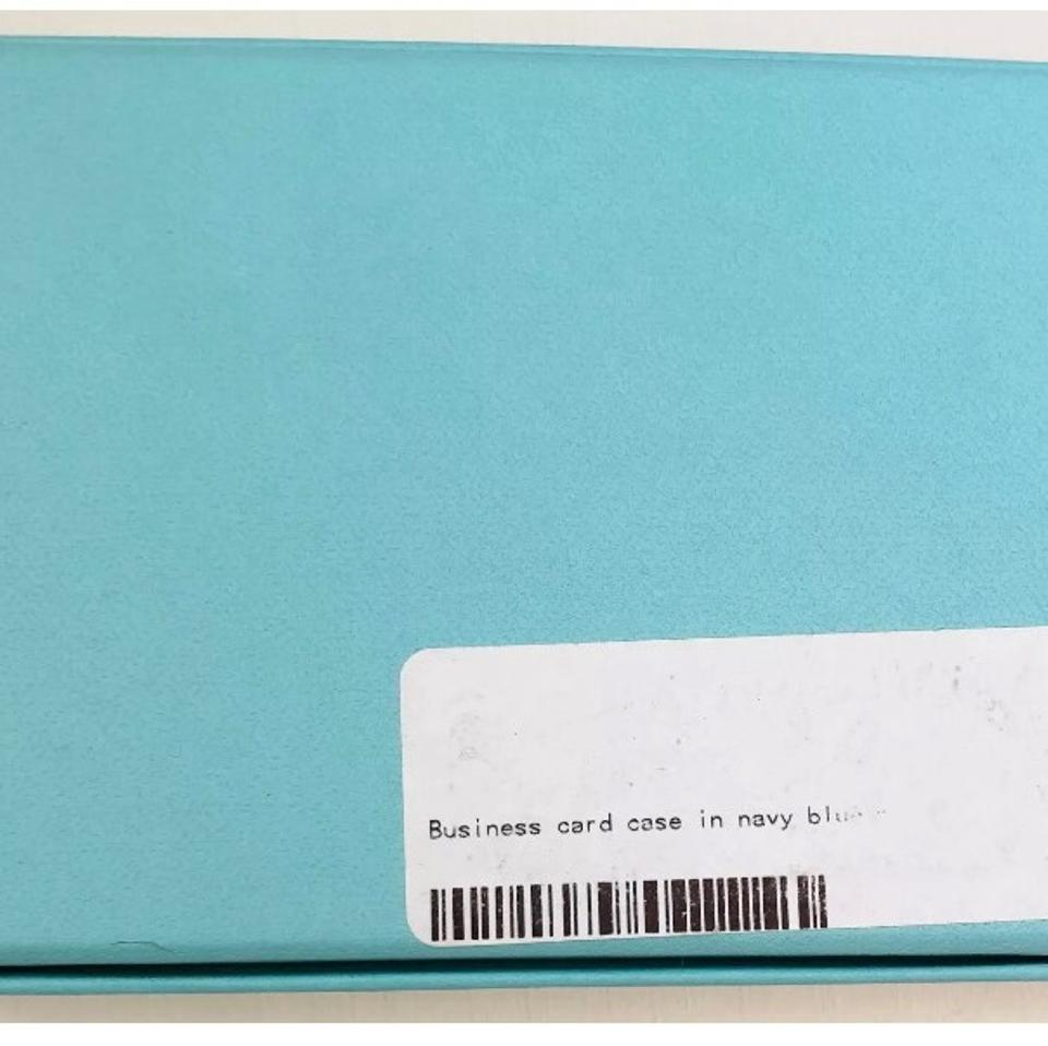 Tiffany & Co. Navy Patent Leather Business / Credit Card Case Wallet ...
