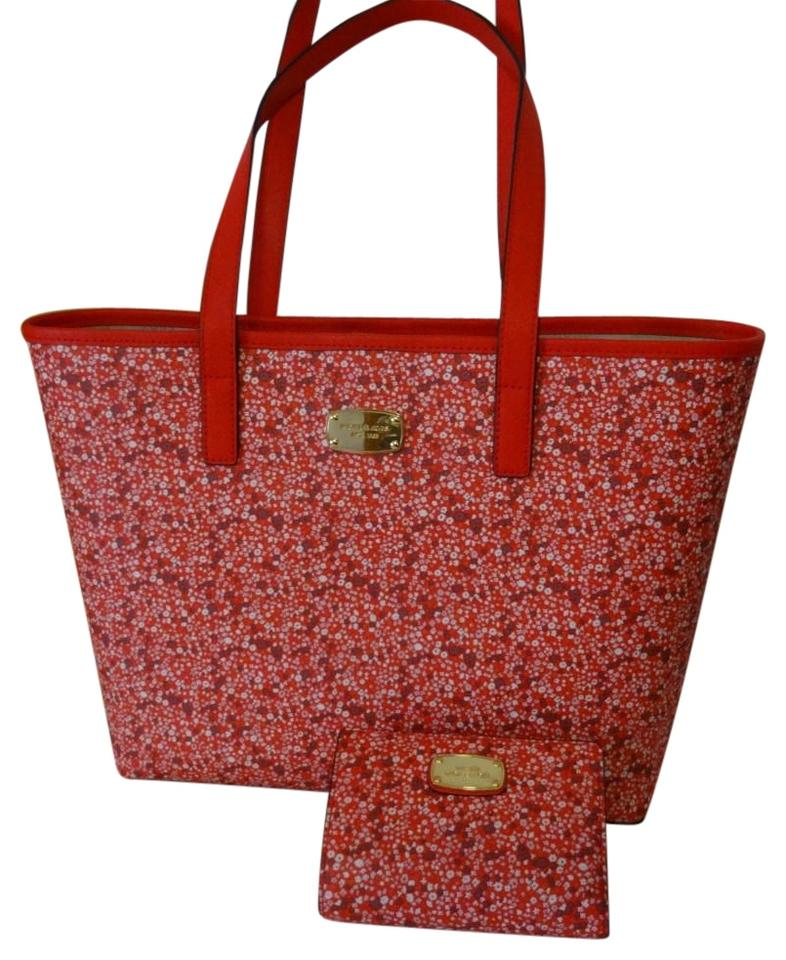 27fa1cdd0aa364 ... Michael Kors Floral And Wallet Pink And Red Shoulder Bag .