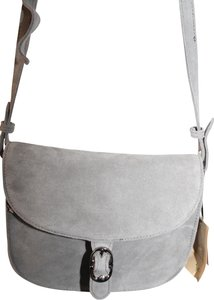 Emma Fox Suede Leather Satchel in Gray