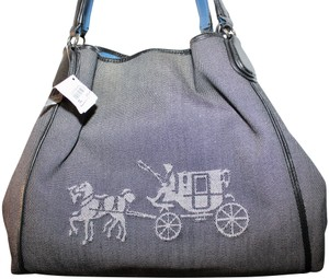 Coach Denim Western Montana Designer Shoulder Bag
