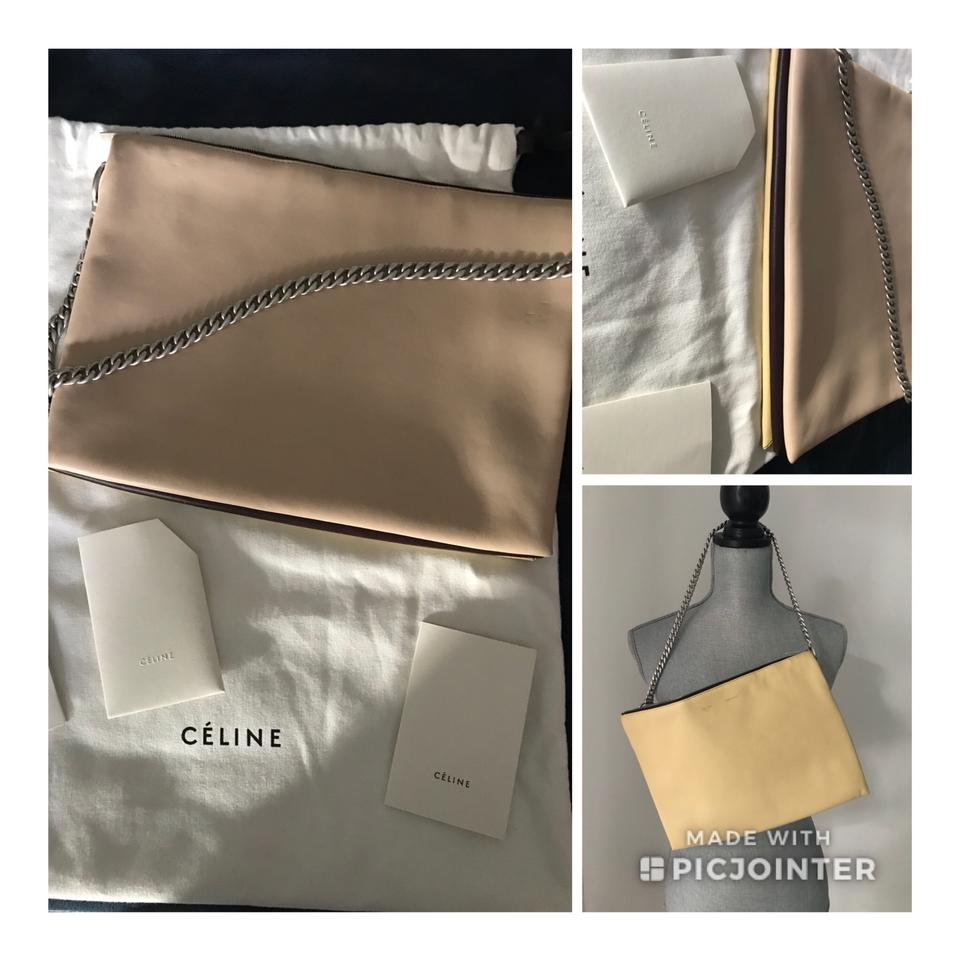 Soft Nude Shoulder Brown Bag X Trio Leather Others Céline Zipped pOafn5Wa