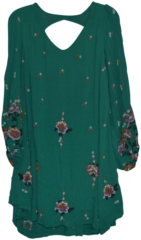 5cf6c3361c58 Free People Multi-color Ob581283 Green Combo Short Casual Dress Size ...