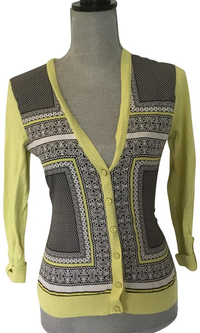 Item - Chartreuse and Black Classic Button-down Top Size 2 (XS)