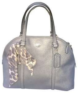 Coach Satchel in metallic grey