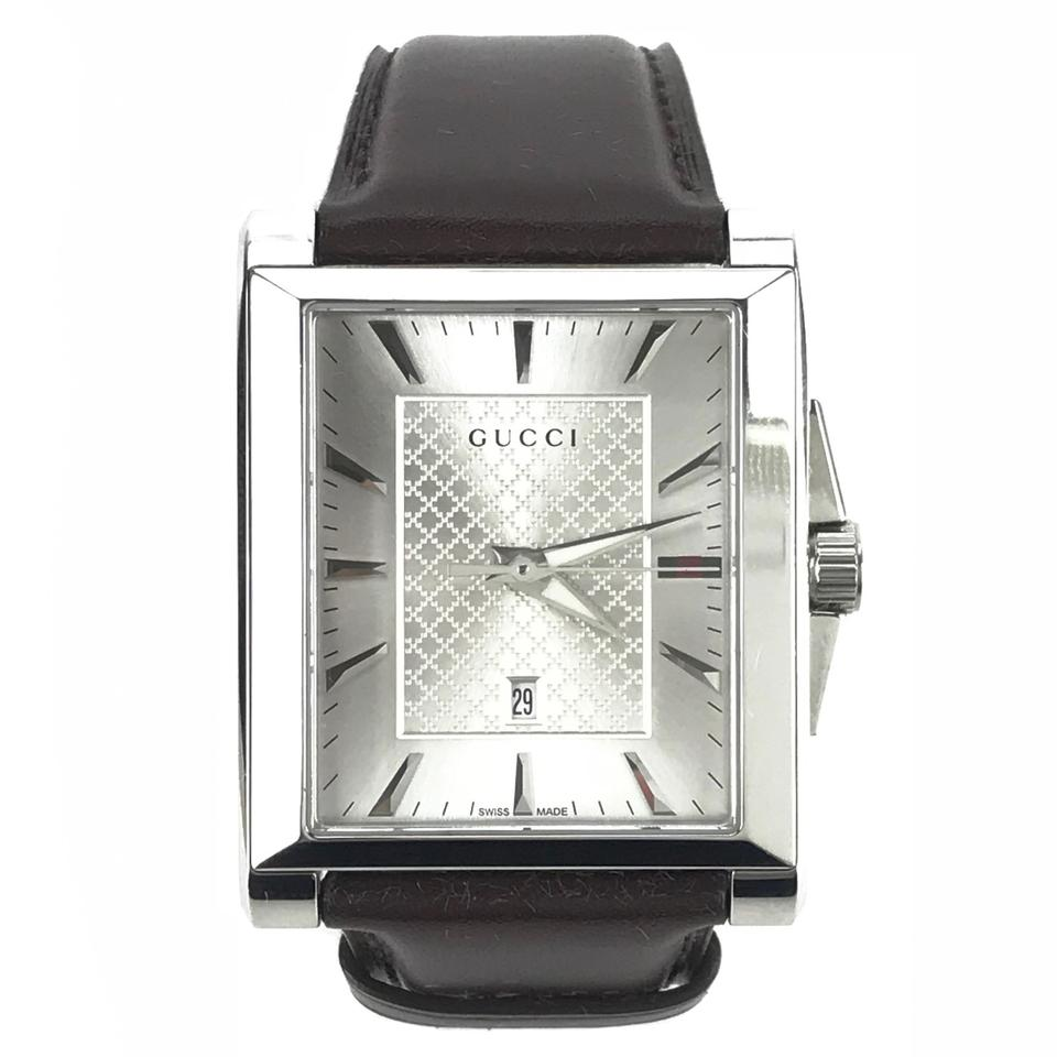 a731142d17d Gucci GUCCI 361217 Men s G-Timeless Rectangle Dial Leather Watch Image 0 ...