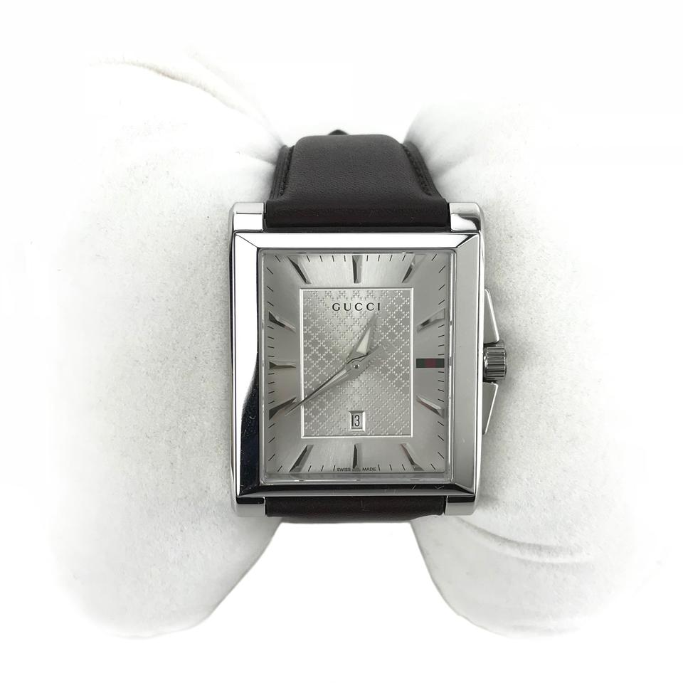 da1ed67d4f9 Gucci GUCCI 361217 Men s G-Timeless Rectangle Dial Leather Watch Image 8.  123456789