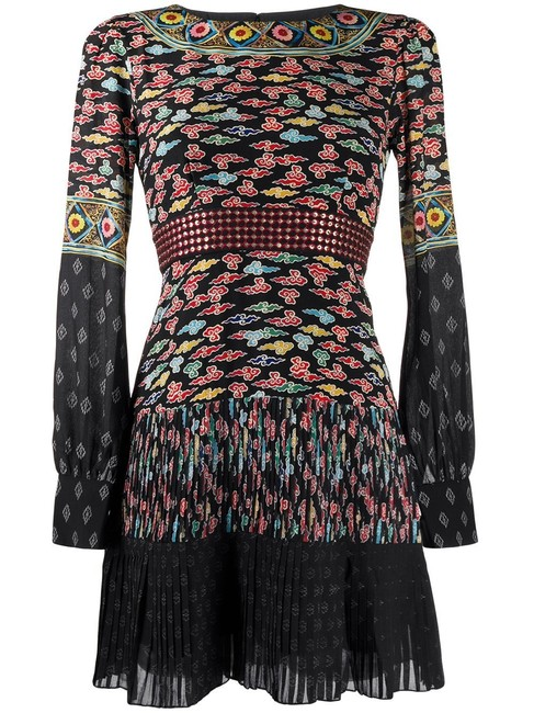 Item - Multiple Multicolor with Pleated Skirt Mid-length Short Casual Dress Size 10 (M)