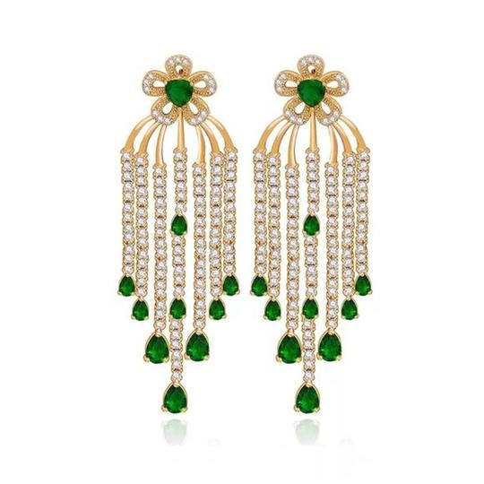 Preload https://item1.tradesy.com/images/green-and-gold-swarovski-crystals-the-simona-dangle-earrings-23329885-0-0.jpg?width=440&height=440