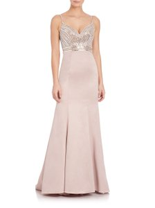 La Femme Beaded Embellished Sweetheart Mermaid Evening Dress