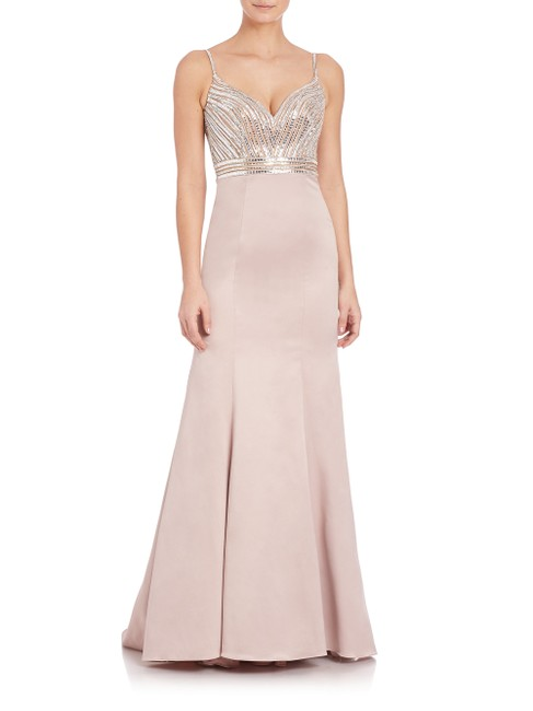 Preload https://item2.tradesy.com/images/la-femme-champagne-beaded-mermaid-gown-long-formal-dress-size-4-s-23329886-0-0.jpg?width=400&height=650