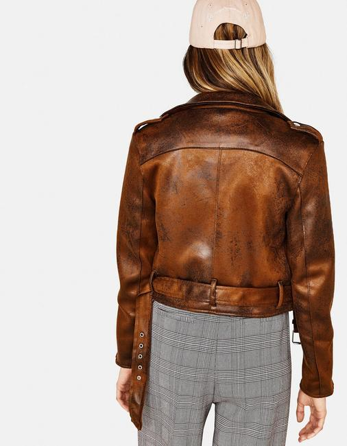 Bershka Faux Leather Motorcycle Jacket