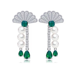 Preload https://item2.tradesy.com/images/green-and-silver-swarovski-crystals-the-alamna-fan-s3-earrings-23329906-0-0.jpg?width=440&height=440