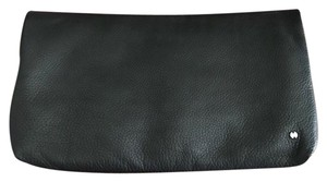 Halston Leather Leather Black Clutch