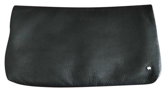 Preload https://img-static.tradesy.com/item/23329915/halston-heritage-fold-over-black-soft-leather-clutch-0-1-540-540.jpg