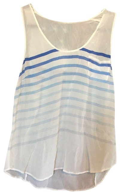 Preload https://item1.tradesy.com/images/joie-white-sleeveless-blue-ombre-striped-silk-tank-topcami-size-12-l-23329950-0-1.jpg?width=400&height=650