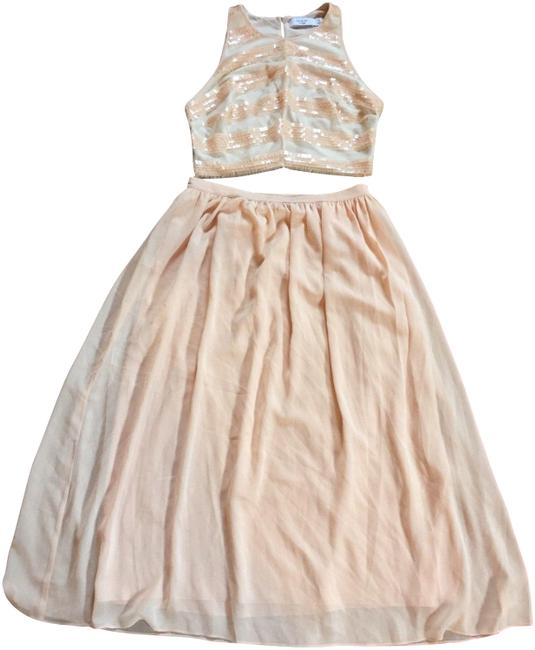Preload https://item3.tradesy.com/images/ali-and-jay-beige-peach-pink-shiny-sequin-crop-top-midi-skirt-evening-set-mid-length-cocktail-dress--23329967-0-1.jpg?width=400&height=650