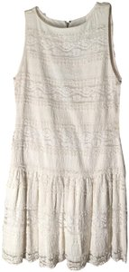 Alice + Olivia Eyelet Lace Sleeveless Crew Neck Bride-to-be Dress