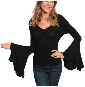 Other Bohemian Bell Sleeve V Neck Relaxed Fit Trending Tunic