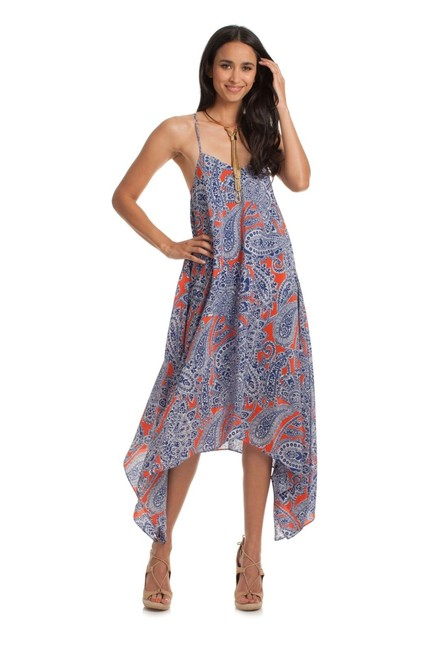 Preload https://item2.tradesy.com/images/trina-turk-blue-orange-print-asymmetrical-mid-length-casual-maxi-dress-size-10-m-23330006-0-0.jpg?width=400&height=650