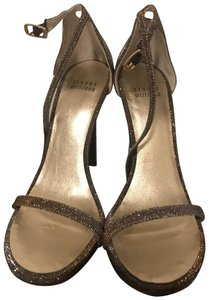 Stuart Weitzman Nudist Platinum Noir Sandals