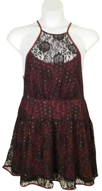 Preload https://img-static.tradesy.com/item/23330049/free-people-dark-red-black-lace-party-short-casual-dress-size-10-m-0-1-650-650.jpg
