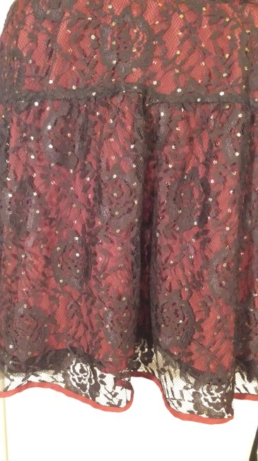 Free People short dress Dark red, black #partydress on Tradesy