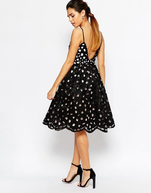 Chi Chi London Scalloped Backless Party Prom Cut-out Dress