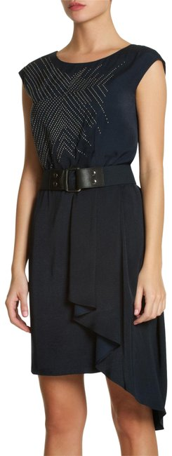 Preload https://item3.tradesy.com/images/bcbgmaxazria-dark-blue-runway-studded-mid-length-cocktail-dress-size-0-xs-23330087-0-1.jpg?width=400&height=650