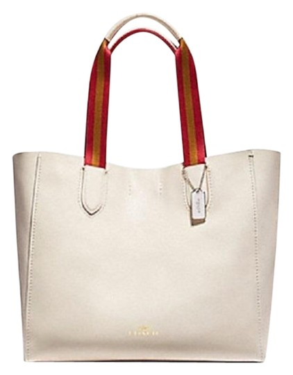 Preload https://img-static.tradesy.com/item/23330100/coach-derby-white-leather-tote-0-1-540-540.jpg