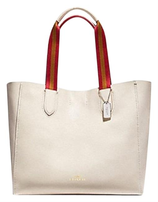 Coach Derby White Leather Tote Coach Derby White Leather Tote Image 1