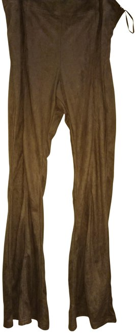 Preload https://item2.tradesy.com/images/elan-brown-xl-faux-suede-flared-pants-size-16-xl-plus-0x-23330101-0-1.jpg?width=400&height=650