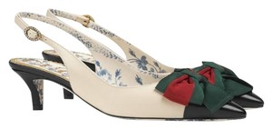 Gucci Sling Back Web Bow Sling Back Web Bow Pump Web Bow Sling Back Pump Sandals