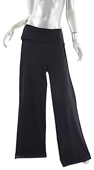 Preload https://item4.tradesy.com/images/donna-karan-black-ny-cashmere-ribbed-elastic-wide-leg-pants-size-8-m-29-30-23330123-0-1.jpg?width=400&height=650
