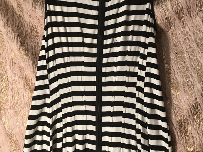 Betsey Johnson short dress Black/white Stripped Fit And Flare Chic Zipper on Tradesy