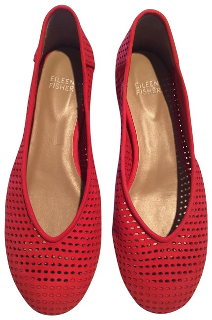 Item - Poppy Red Patch Flats Size US 7.5 Regular (M, B)