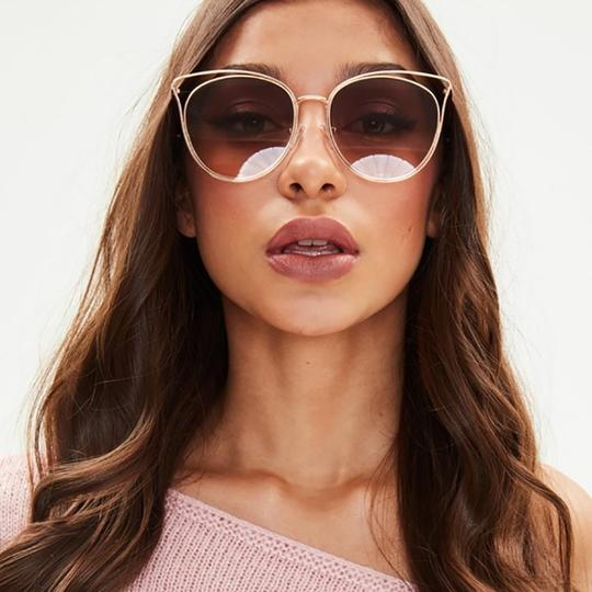 Missguided MISSGUIDED Round Cat Eye Sunglasses