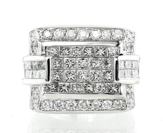 Diamond Clusters Custom Made Ring 3.93 total carats VVS-VS Clarity Diamonds Cluster Custom Made Ring
