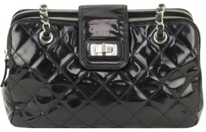 Chanel Cerf Serf Executive Single Shopper Vip Travel Limited Rare Htf Gift Wallet File Double Quilted Tote in Black