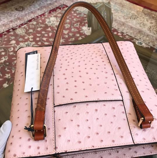 Dooney & Bourke Ostrich Gift Handbag+wallet Leather Tote in ROSE WATER